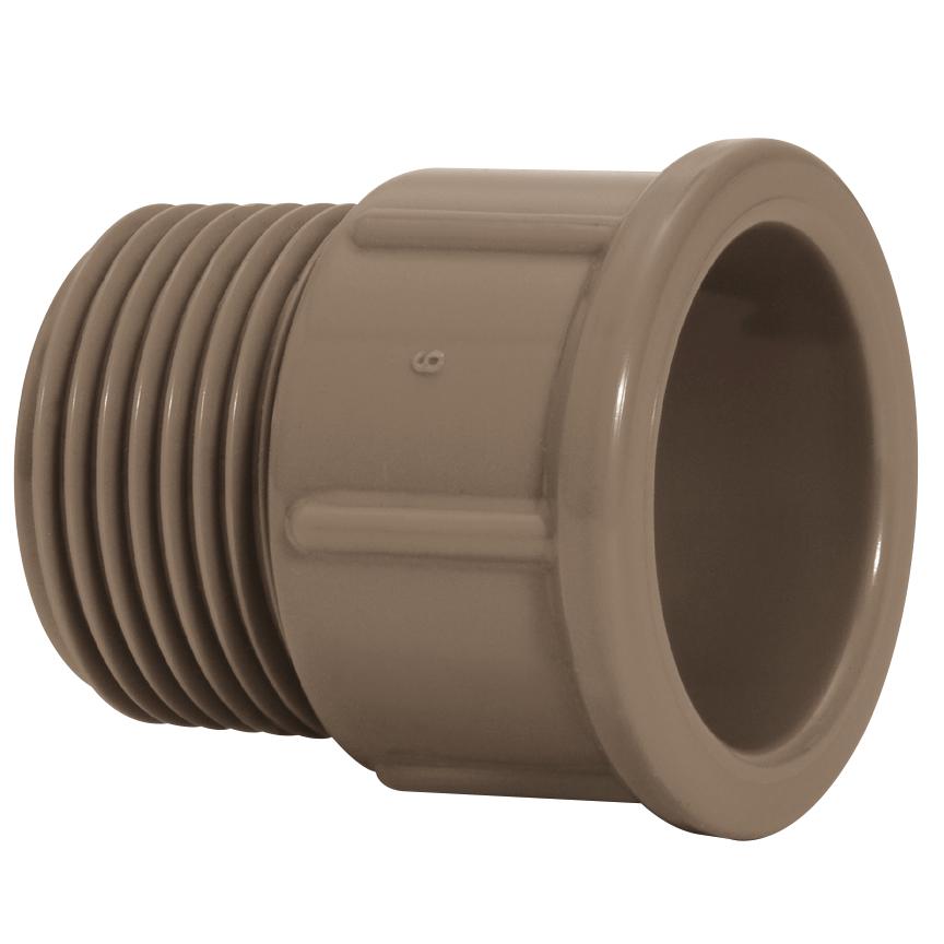 Adaptador Curto PVC Marrom 25 mm - Amanco