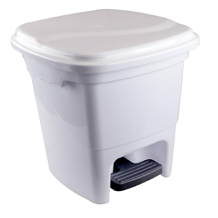 Lixeira de Plastico com Pedal 150L Branca 1291 - Plasvale