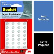 Protetor anti-impacto de Silicone Autoadesivo Redondo 0,8x0,8 - 3M