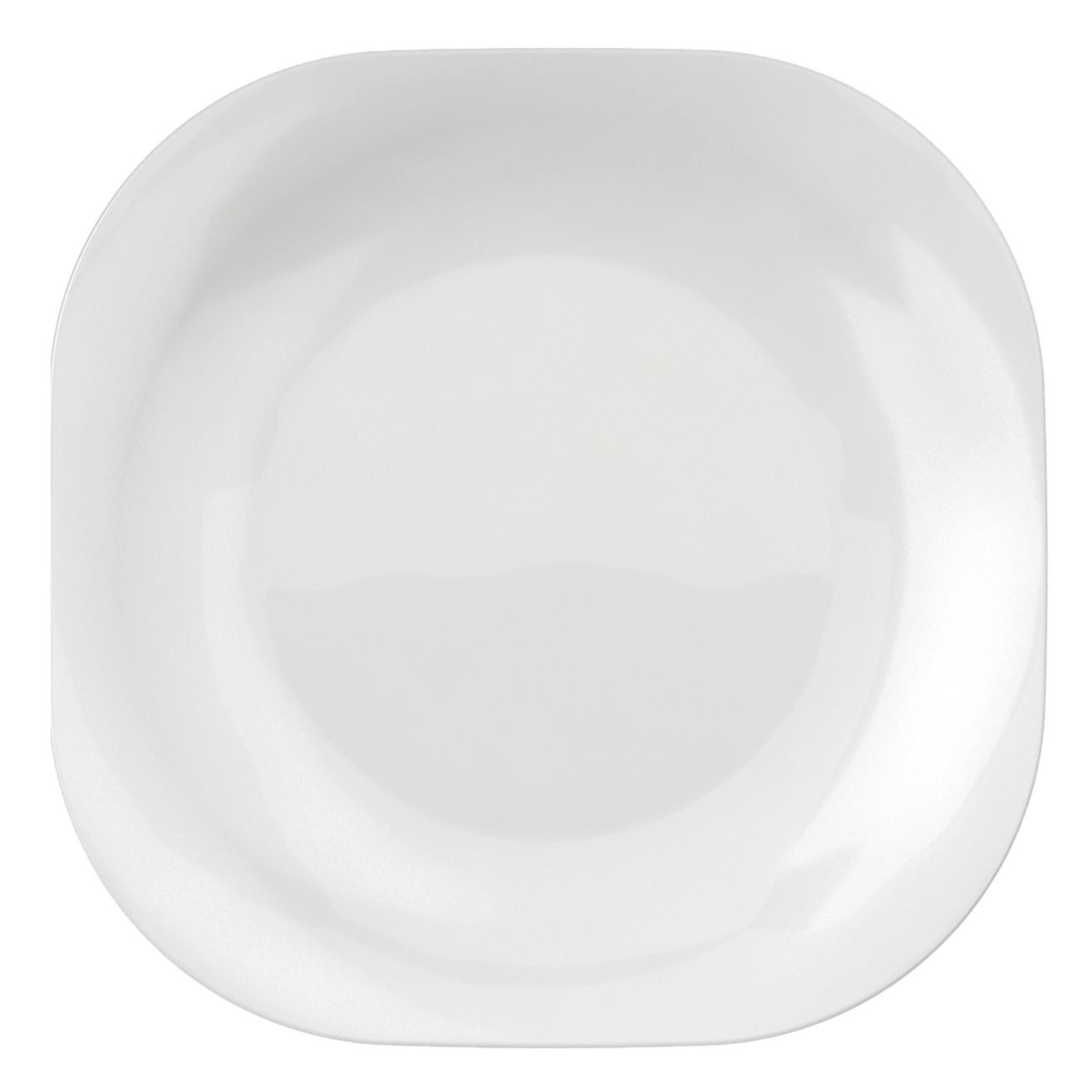 Prato Raso Quadrado Opaline Branco 19cm - Nadir
