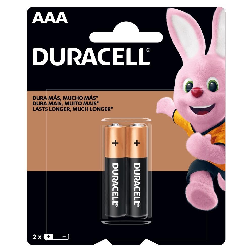 Pilha Alcalina Duracel AAA 15V 2 Unidades