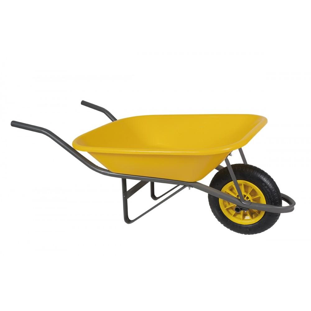 Carro de Mao Polietileno de alta densidade Pneu Camara Amarelo - Metasul