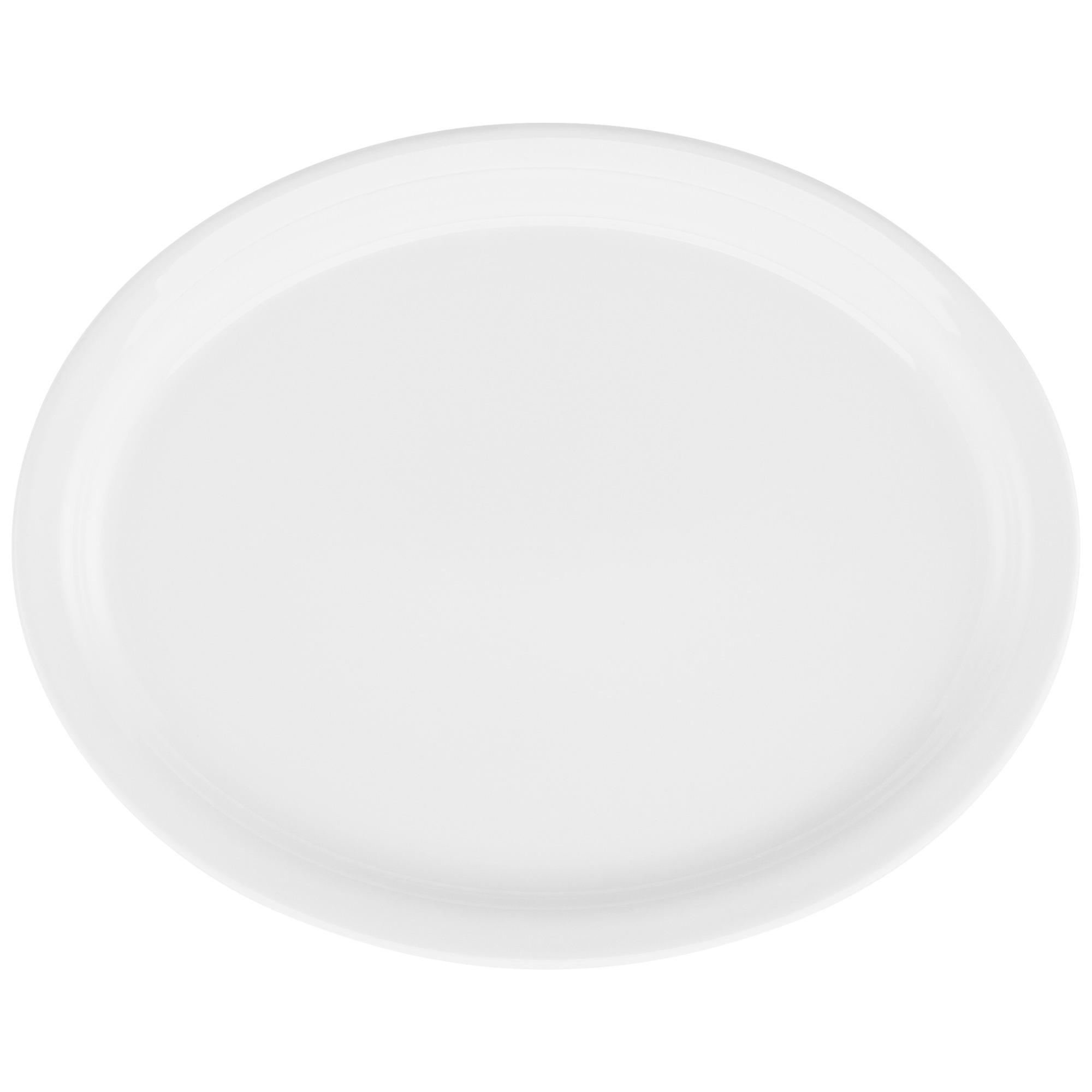 Travessa de Porcelana Oval Rasa 305 x 24 cm Branco - Oxford