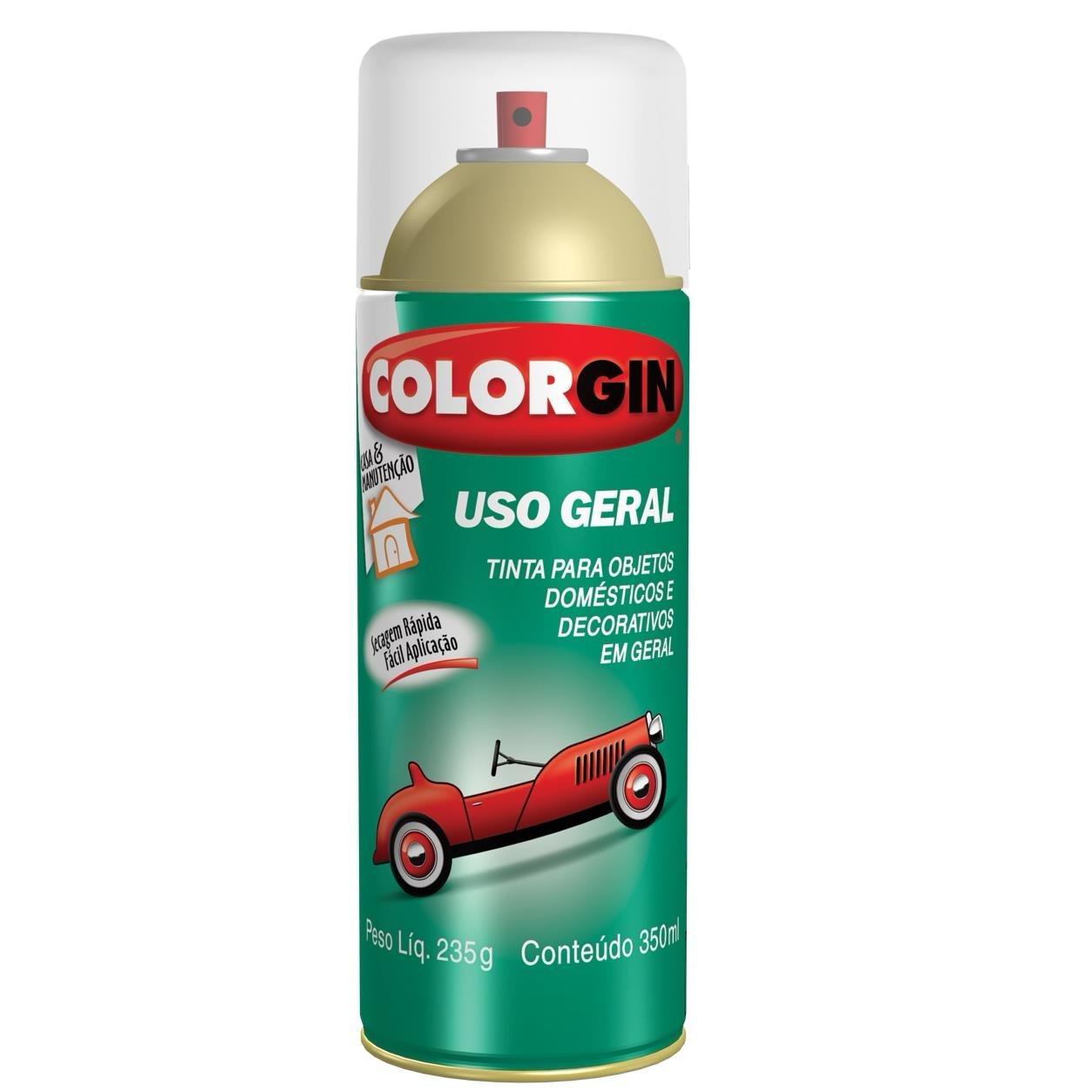 Tinta Spray Brilhante Uso geral Interno e Externo - Vermelho - 400ml - Colorgin