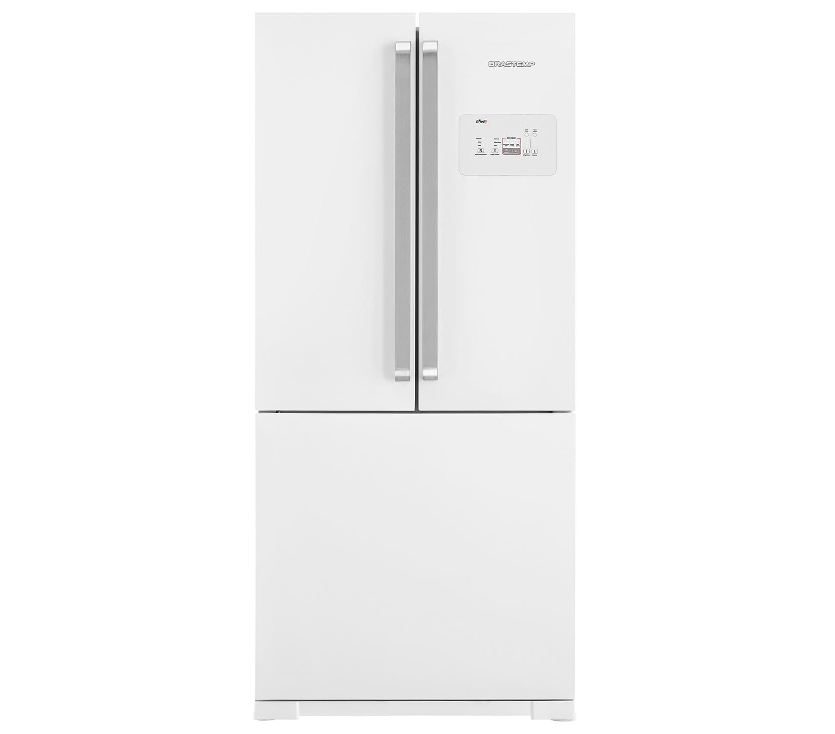 GeladeiraRefrigerador Brastemp Frost Free Side Inverse 540L Branco 127V - BRO80ABANA