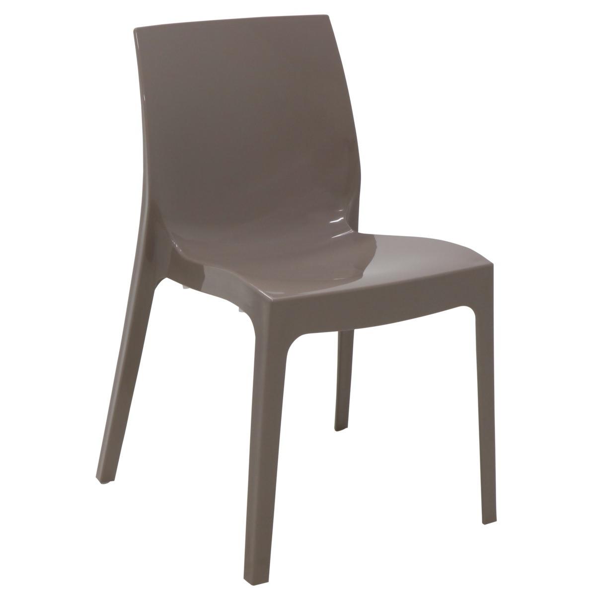 Cadeira Tramontina Camurca Alice em Polipropileno com Encosto