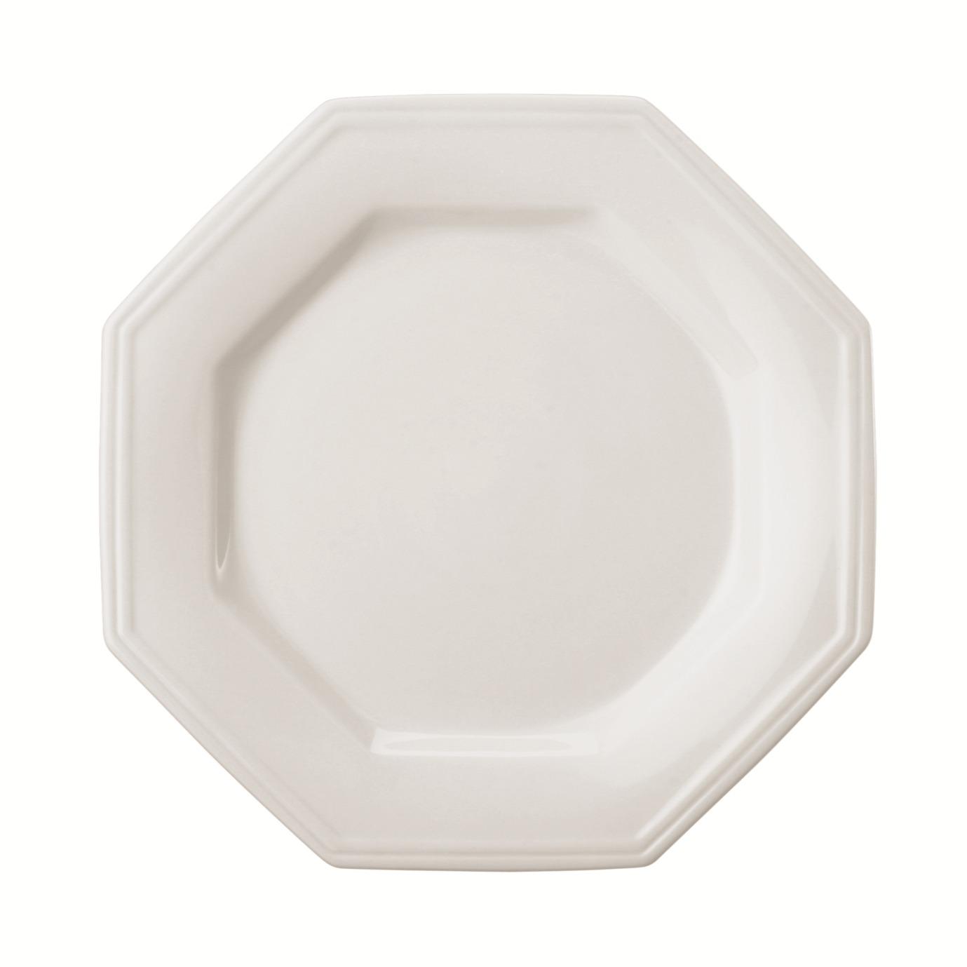 Prato de Sobremesa Redondo em Porcelana Prisma Branco 28cm - Schmidt