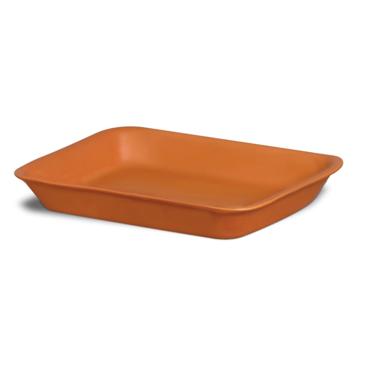 Travessa de Ceramica Retangular Rasa Tijolo 25x38cm 10540 - Nova Imagem