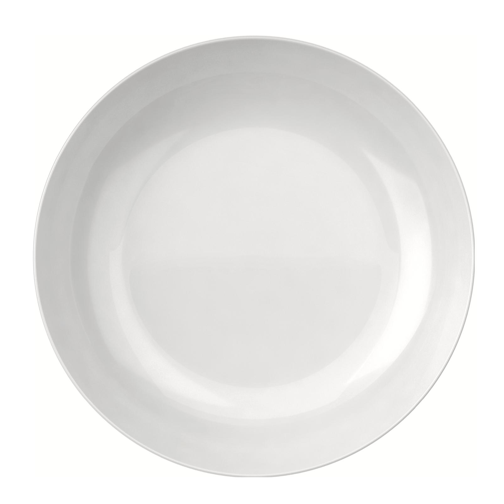 Prato Fundo Redondo Opaline Blanc Branco 22cm - Nadir