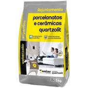 Rejunte Porcelanato Weber Cinza Outono 5kg - Quartzolit