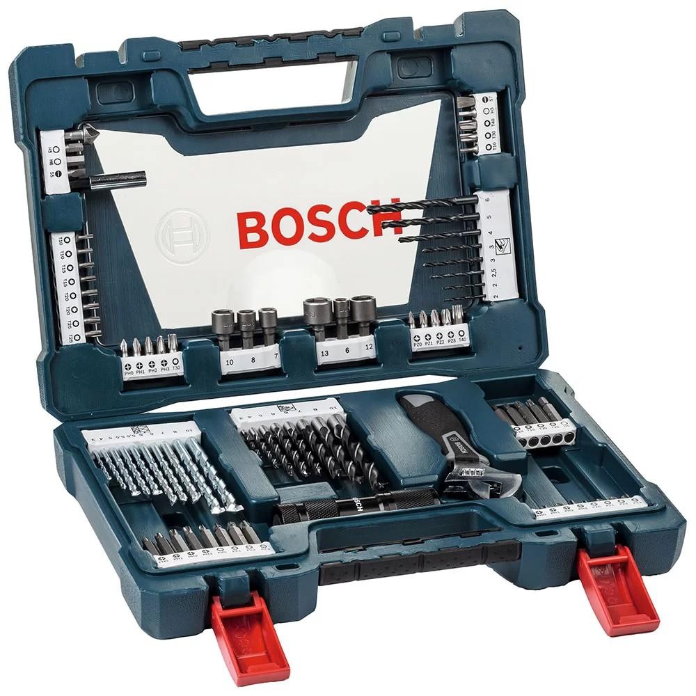 Jogo de Acessorio VLINE Titanio 83 Pecas 2607017193 - Bosch