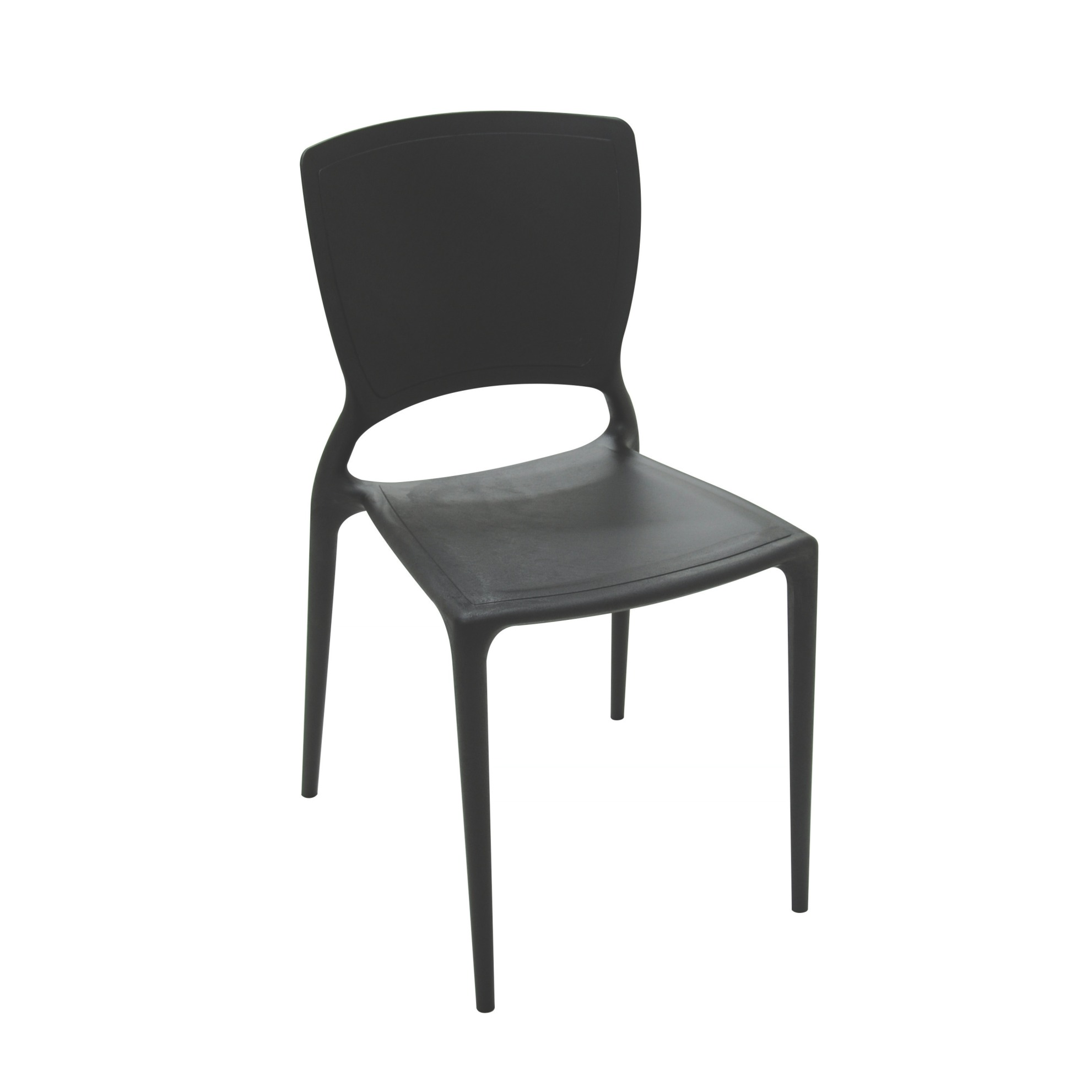 Cadeira Sofia Tramontina Polipropileno e Fibra de Vidro - Preta