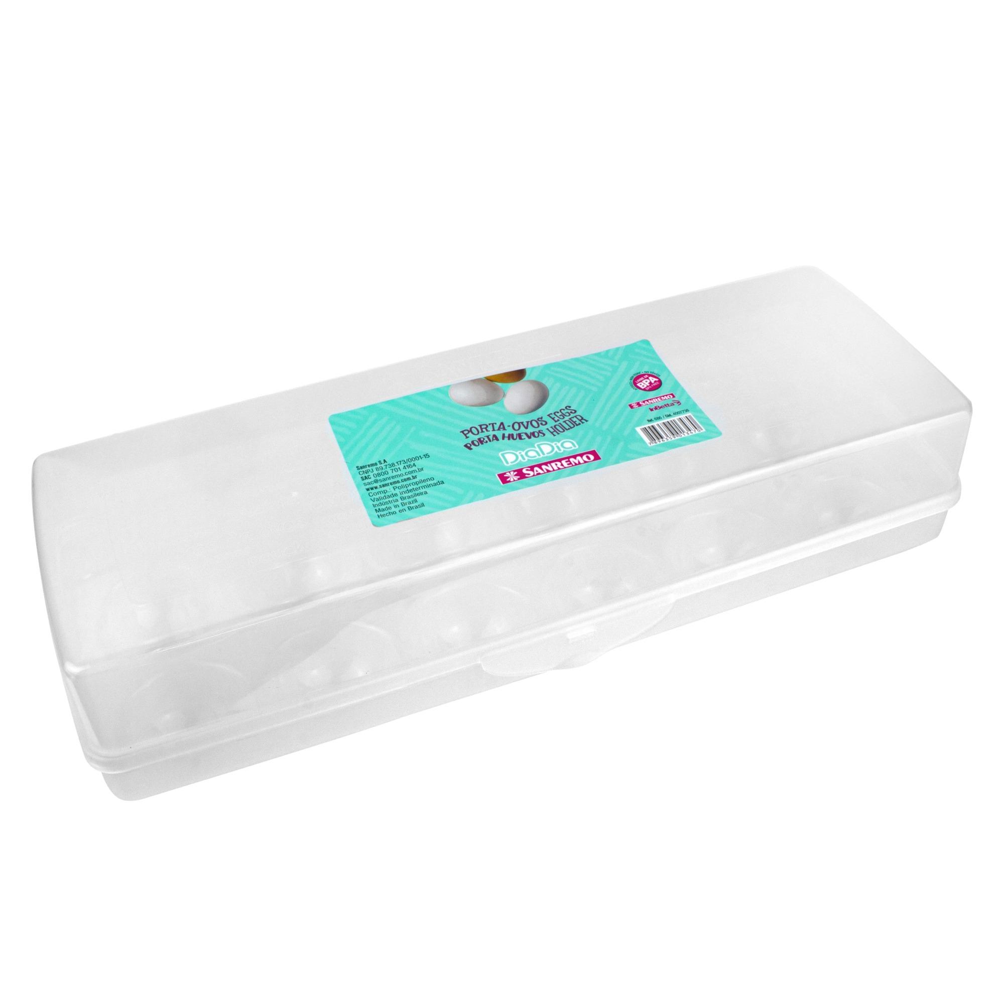 Porta Ovos de Plastico 276x104x72cm Incolor- Sanremo