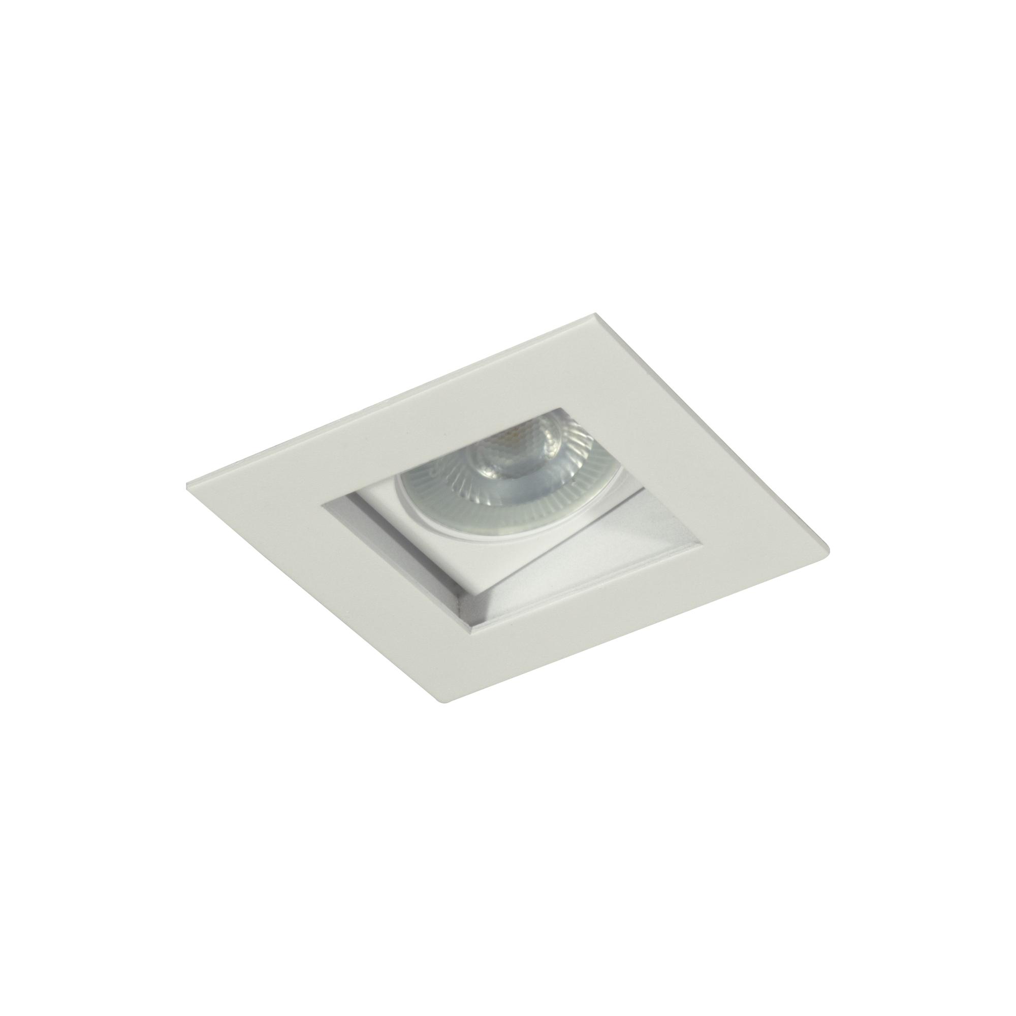Spot Embutir Aluminio Direcional Quadrado Branco 7002 - Goli