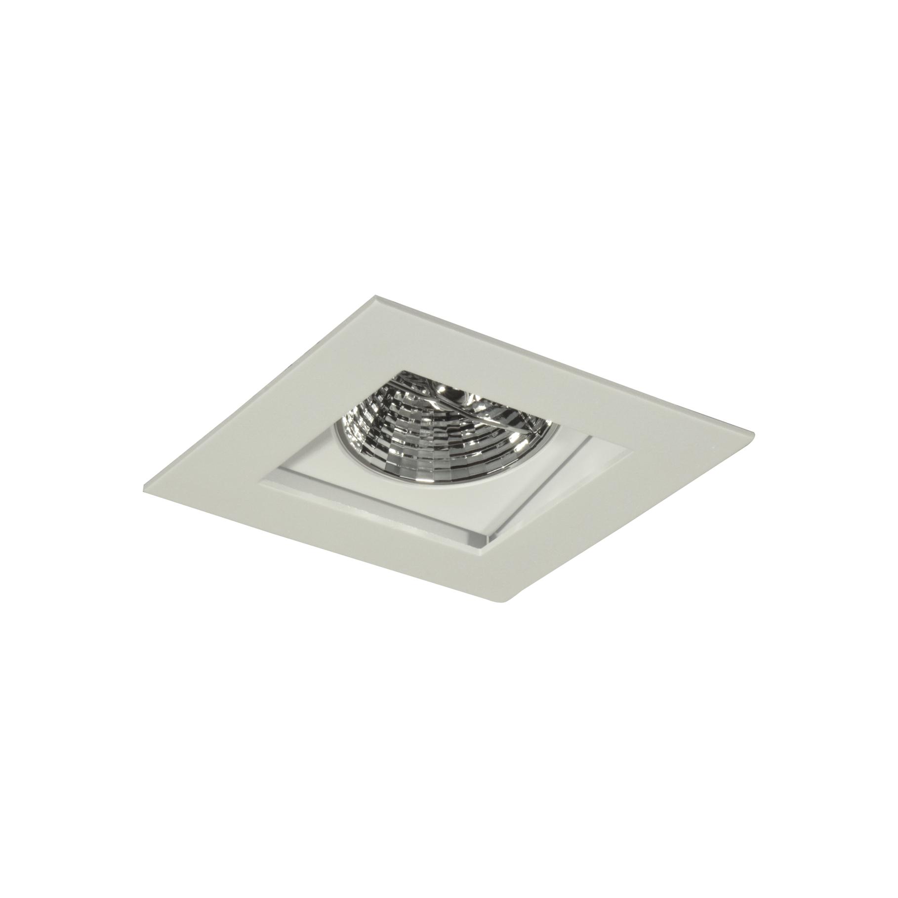 Spot Embutir Aluminio Direcional Quadrado Ar70 Branco 7004 - Goli
