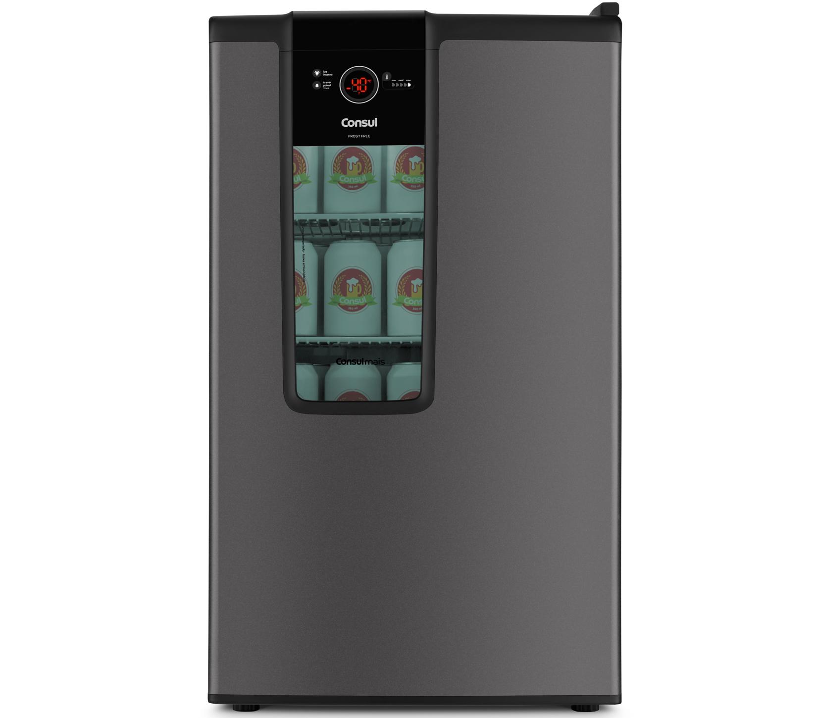 Cervejeira Consul Frost Free Titanium 127V 82L CZD12AT com Painel Touch