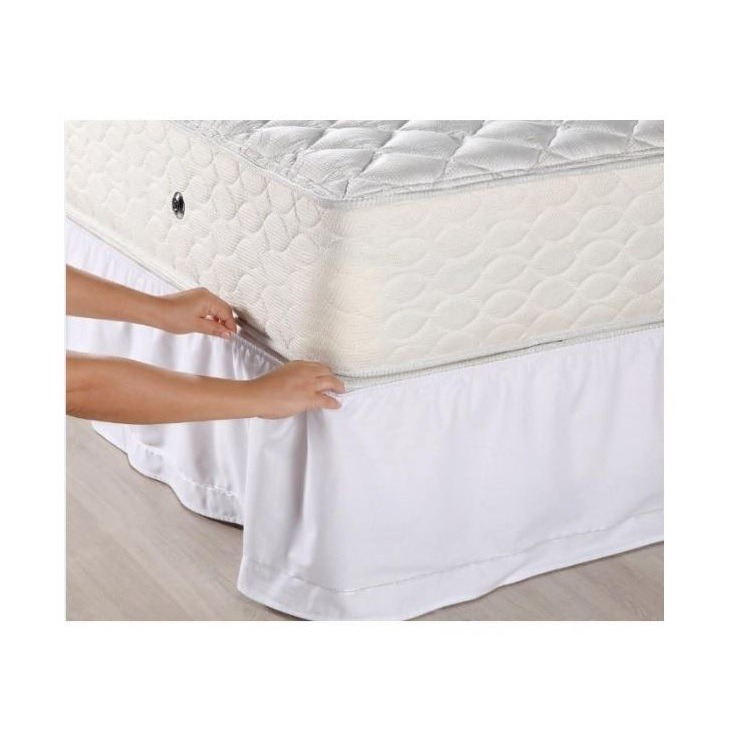 Saia Box Santista para Colchao Solteiro Veste Facil 88x188x35 cm - Branco