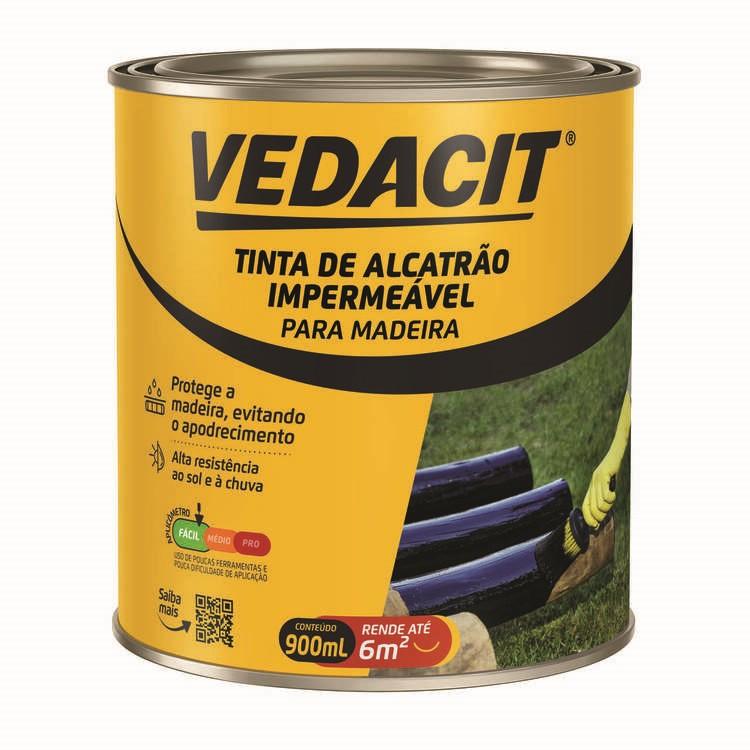 Tinta Impermeabilizante a Base de Alcatrao Piche Extra 900ml - Vedacit