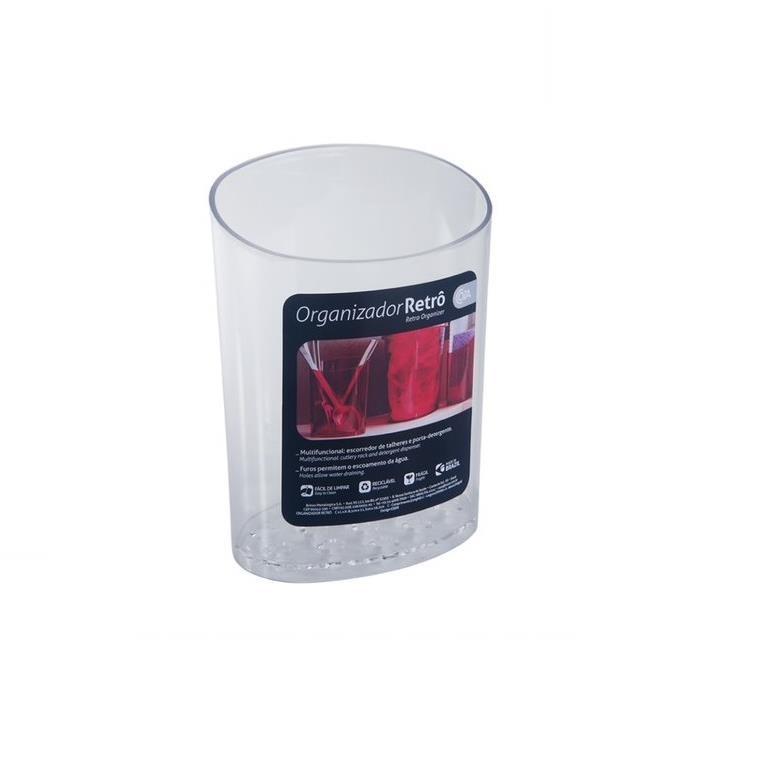 Escorredor de Talheres de Plastico Transparente 208410009 - Coza