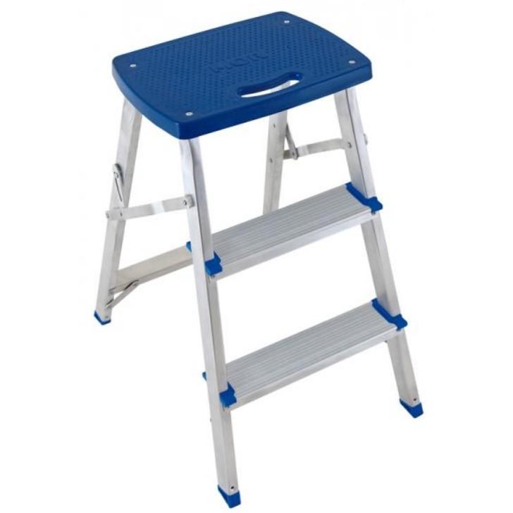 EscadaBanco em Aluminio 3 Degraus Prata 120Kg - 5107 - Mor