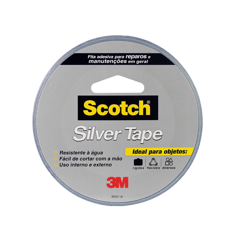 Fita Adesiva Silver Tape Prata 45mm x 25m 1 Unidade - 3M