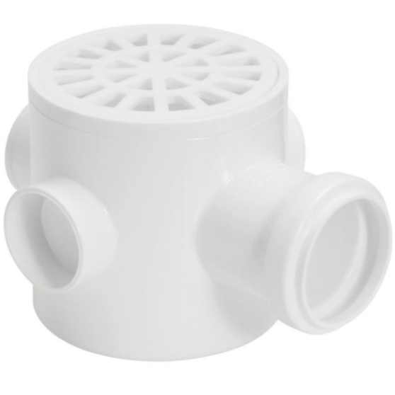 Caixa Sifonada com Ralo Sifonado Cilindrico PVC 100 x 100 mm - Amanco