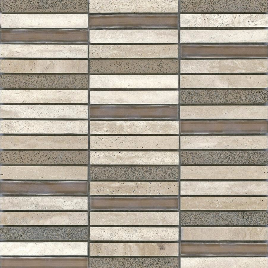 Piso Mosaico Padua Travertino 305x305cm - Incepa