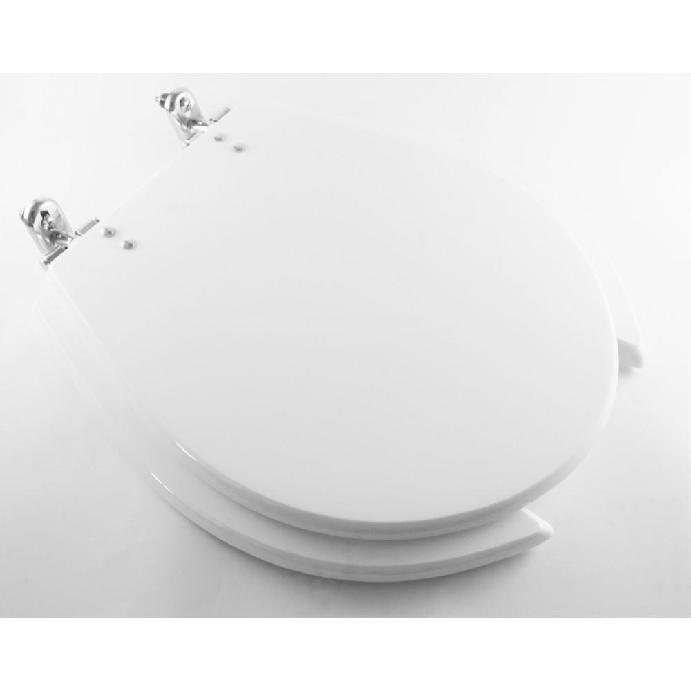 Assento Sanitario Oval Polietileno Universal Acesso Branco 12000 - Policlass