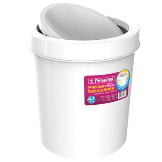 Lixeira para Pia Plastico 43L Branca PR1017 - Primafer