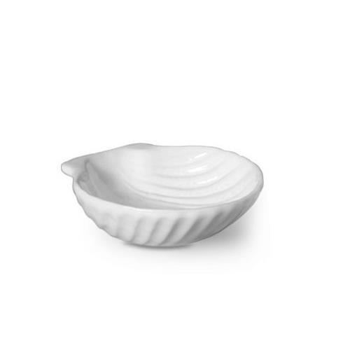 Petisqueira Redonda de Ceramica 1 Peca 9cm Branco - Scalla