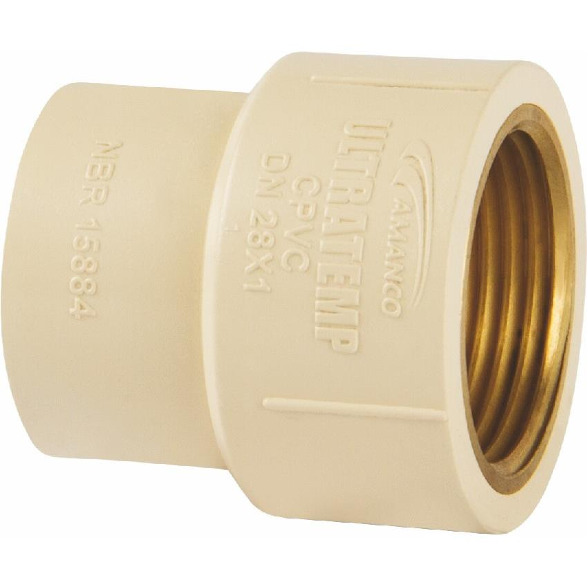 Luva de Transicao CPVC 15 mm FF - Amanco
