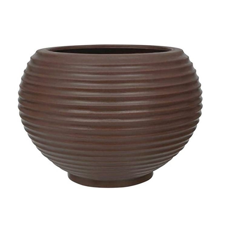Vaso para Plantas em Plastico 32x32cm Bromelia Marrom - Vasart
