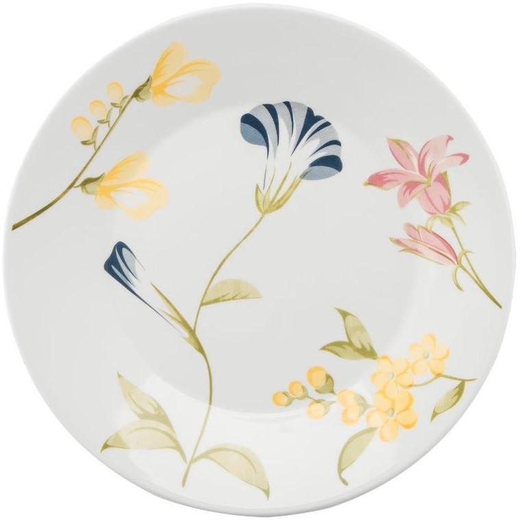 Prato Raso Redondo em Ceramica May Branco 26cm - Biona