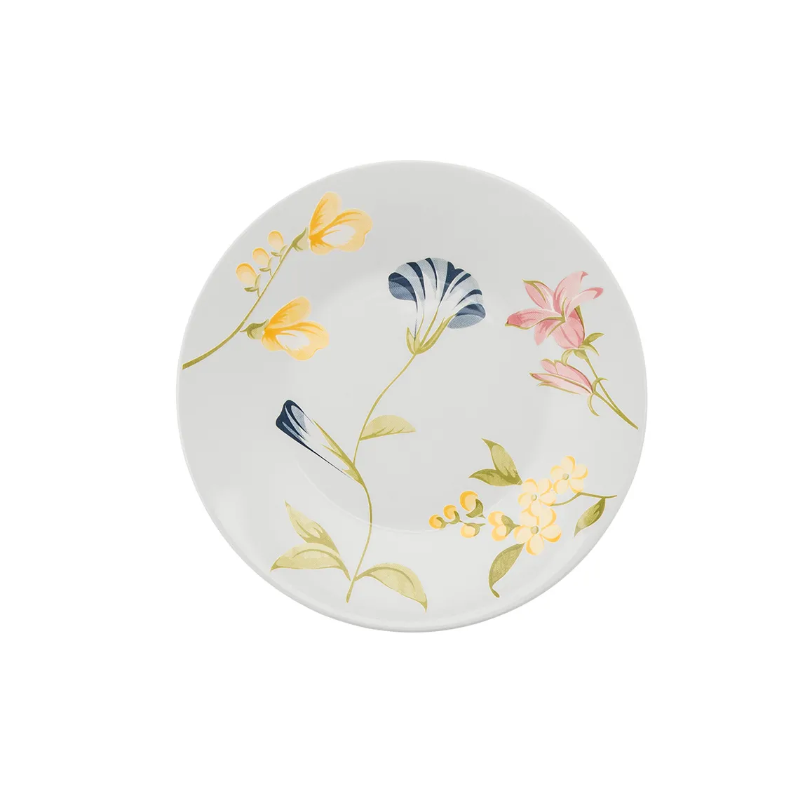 Prato de Sobremesa Redondo em Ceramica May Branco 19cm - Biona