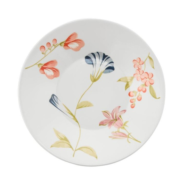 Prato Fundo Redondo em Ceramica May Branco 22cm - Biona