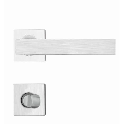 Fechadura WC Roseta e Macaneta Inox Escovado R245 Mi610 Linea - Papaiz