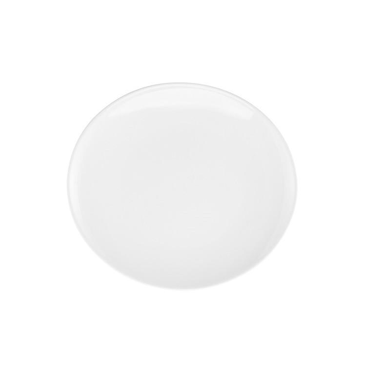 Prato Raso Oval em Porcelana Branco 29cm - Oxford
