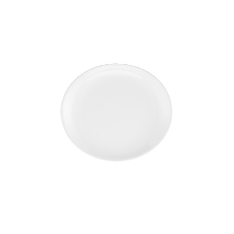 Prato de Sobremesa Oval em Porcelana Loop White 21cm - Oxford