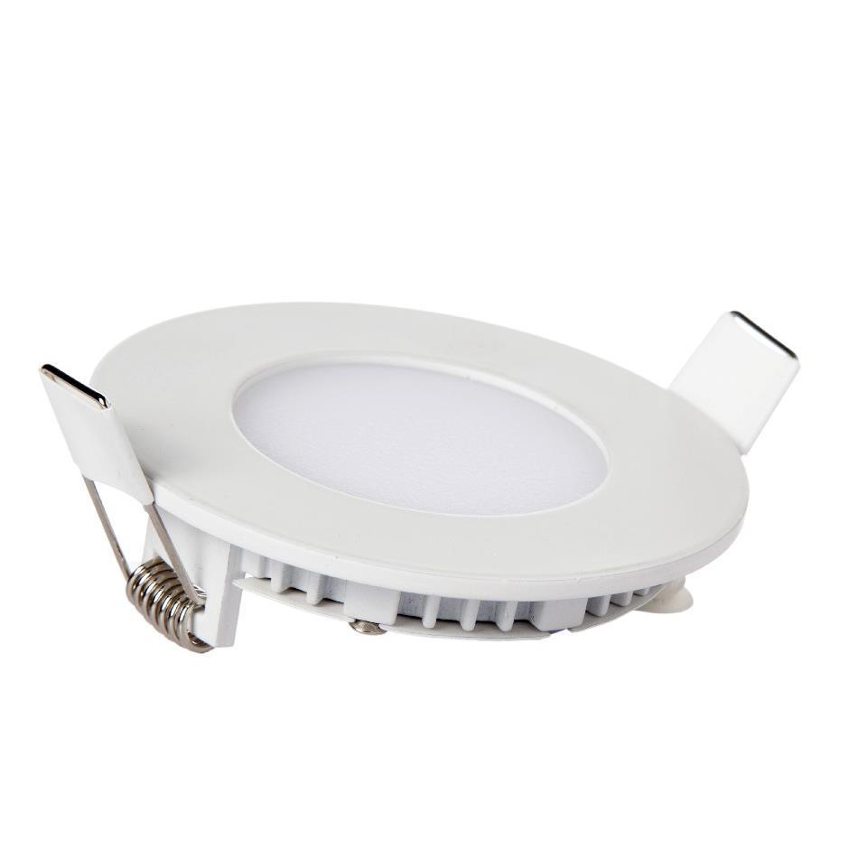 Painel LED de Embutir Redondo 4W 4000K Bivolt - Kian