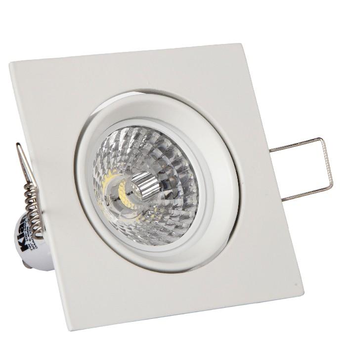 Spot LED de Embutir Quadrado 7W Bivolt - Kian