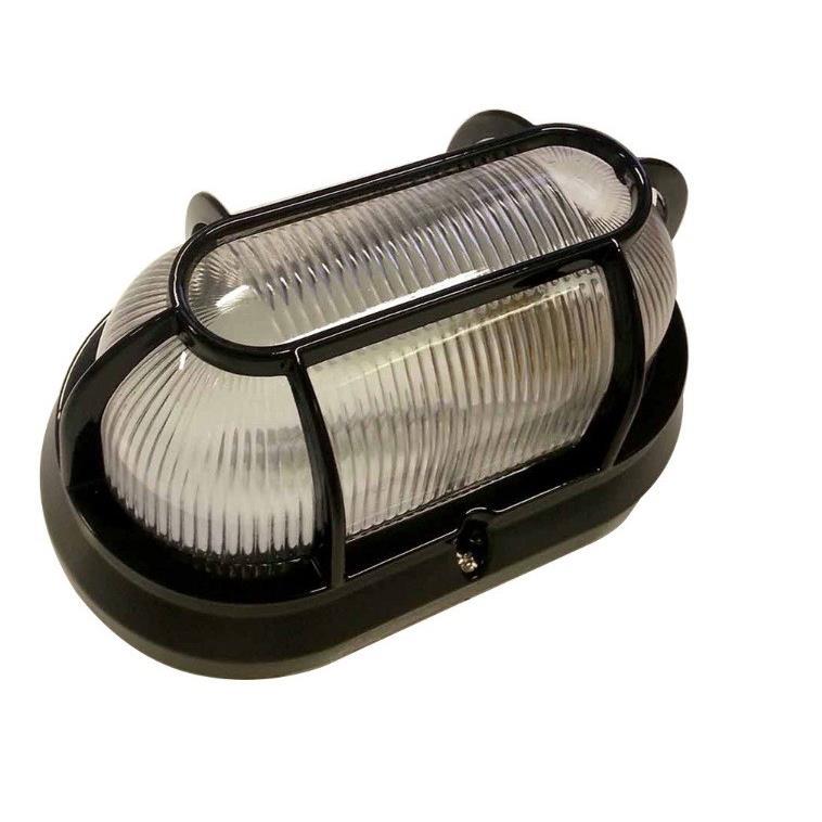 Luminaria Externa Aluminio Tartaruga Oval Preta 1500 - Germany