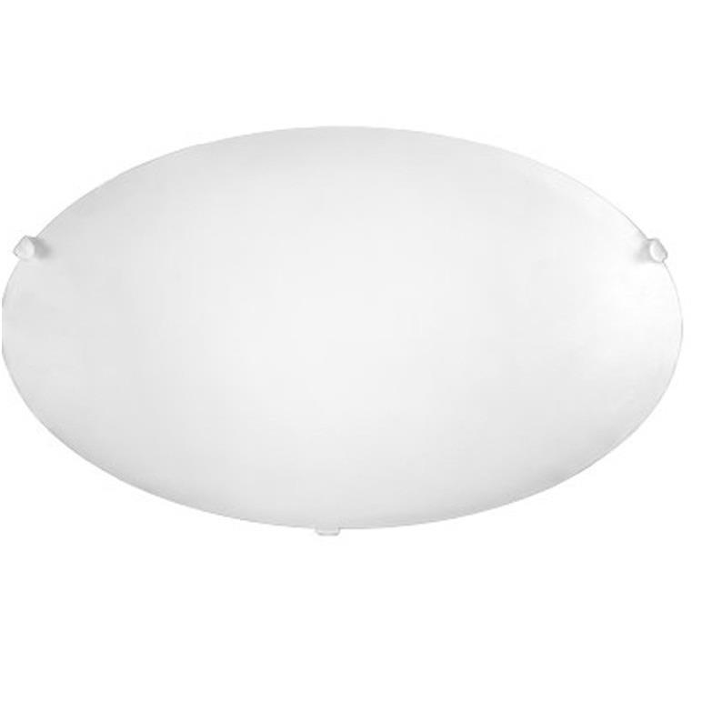 Plafon de Sobrepor Redondo Clean 2 Lampadas 30cm Branco - Llum