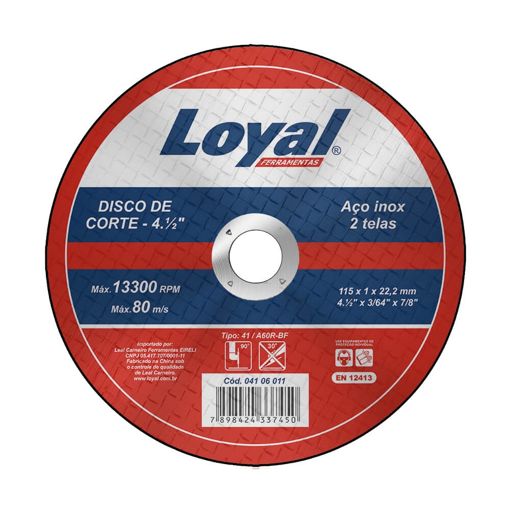 Disco de Corte Aco 412x364x78 115x10x222mm - Loyal
