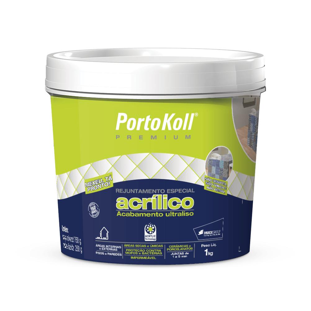Rejunte Acrilico Branco Balde 1kg - PortoKoll