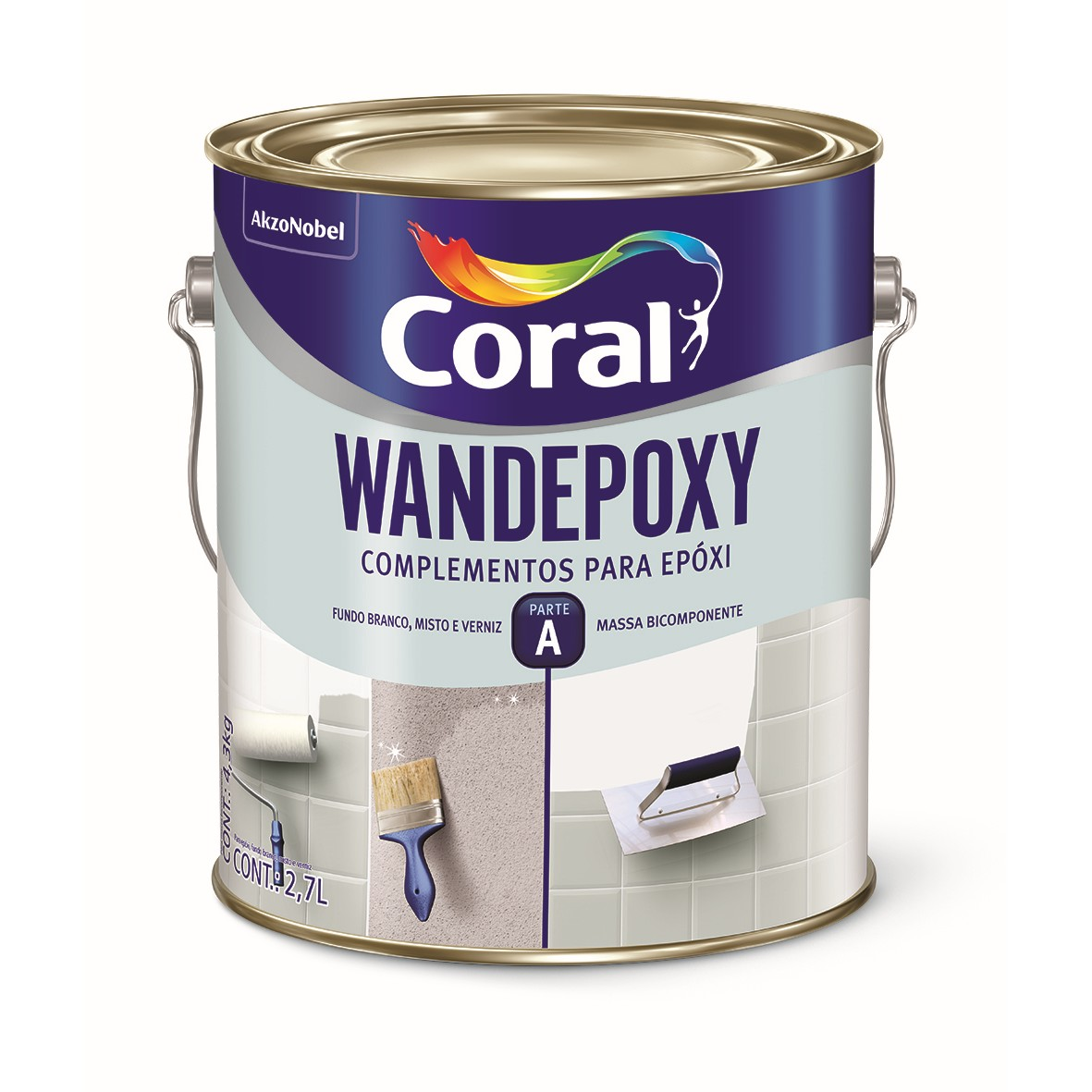 Tinta Epoxi Brilhante Premium 27L - Amarelo Seguranca - Wandepoxy Coral
