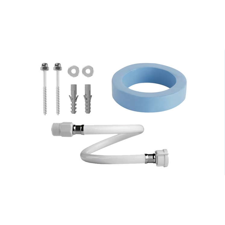 Kit de Acessorios para Instalacao de Bacia PVC 3 Pecas - Injetplast