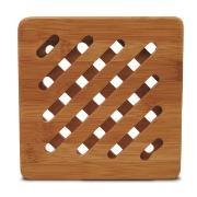 Descanso de Panela Quadrado de Bambu 17x17 cm Canela - Yoi