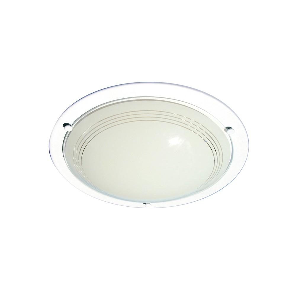 Plafon de Sobrepor Redondo 1 Lampada 20cm Branco - Attena