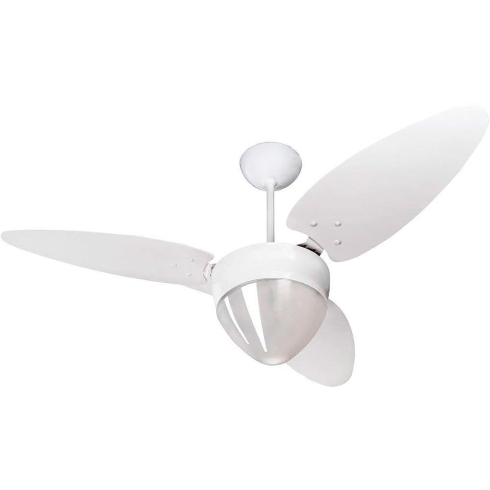 Ventilador de Teto Ventisol 3 Pas Aires Branco 127V - 175 - 2 Lampadas 3 Velocidades