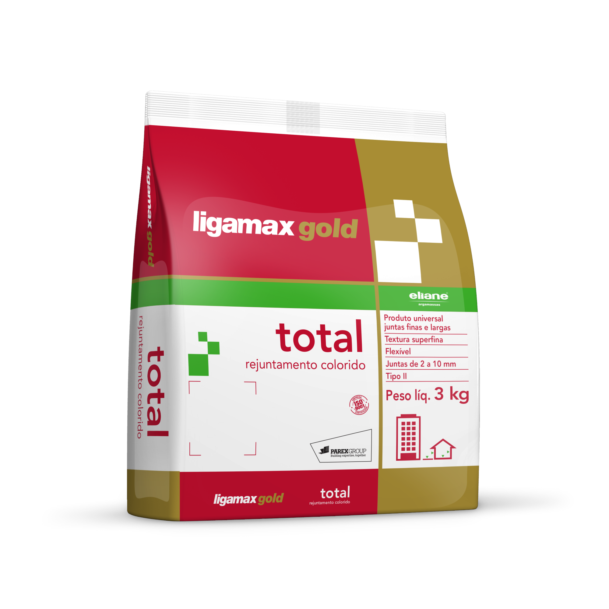 Rejunte Total Cinza Saco3kg - Eliane